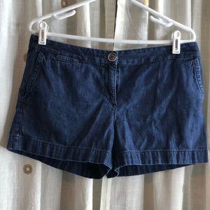 Loft petites denim shorts